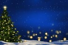 Weihnachtsbaum In Winterlandsc...