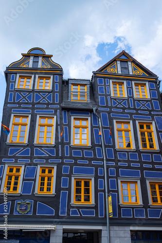 Fotografie, Obraz  Das schiefe Haus in Idstein