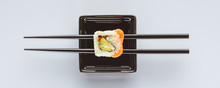 Close-up View Of Tasty Sushi A...