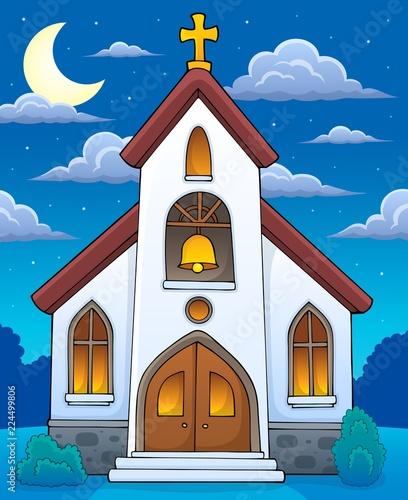 Fotobehang Voor kinderen Church building theme image 4