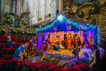 Nativity Scene, Santa Rosa De Viterbo Church, Queretaro, Mexico