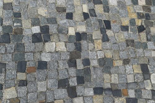 Foto  Portuguese Stone Pavement or Calcada Portuguesa Road