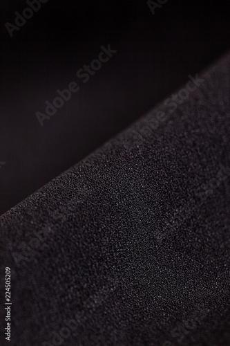 Fotografie, Obraz  黒いシフォン素材のクローズアップ