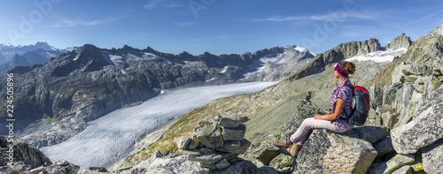 In de dag Alpinisme Bergsteigen am Rhonegletscher