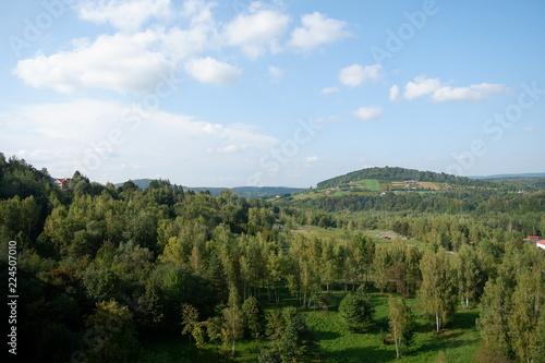 Fotobehang Blauwe hemel Mountains view