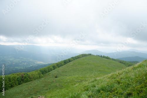 Spoed Foto op Canvas Wit Mountains view