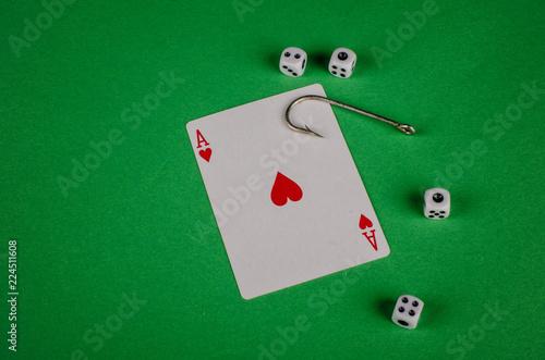 Foto  Gambling addiction concept