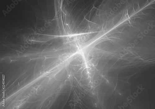 Tuinposter Fractal waves fractal light design background