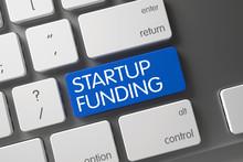 Startup Funding On Laptop Key....