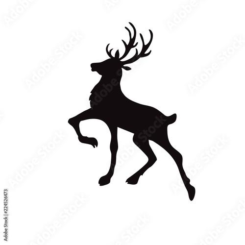 Christmas Reindeer Silhouette.Christmas Reindeer Silhouette Buy This Stock Vector And