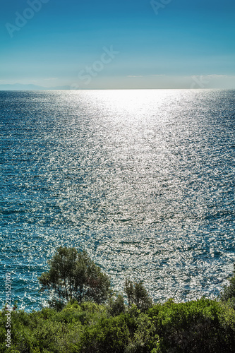 Staande foto Mediterraans Europa Panoramic view of Aegean sea at Chalkidiki, Greece
