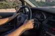 Car driver hand position