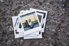 Instant Photo Of Young Woman W...