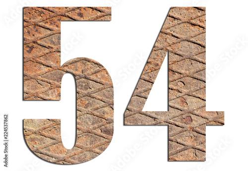 Fotografia  54 – with metal texture on white background