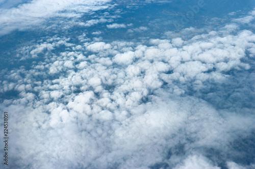 Obraz Natural cloudscape view from airplane window. - fototapety do salonu