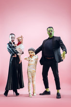 Halloween Family. Happy Father...
