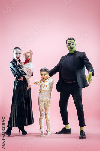 Halloween Family Canvas Print