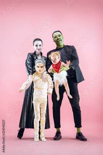 Tablou Canvas Halloween Family
