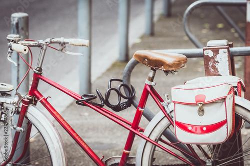 Fotobehang Fiets Vélo avec un look vintage