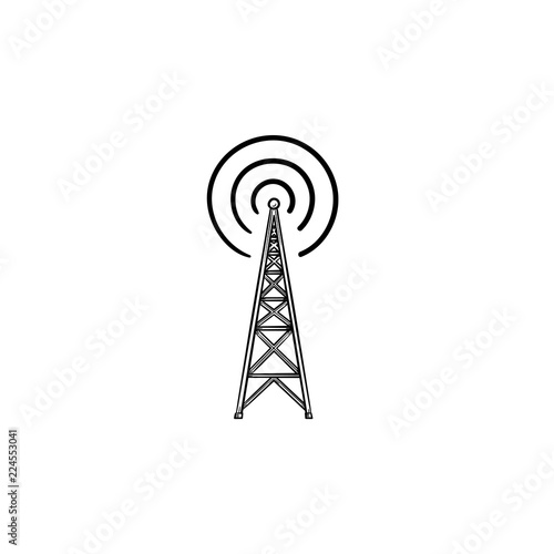 Radio tower hand drawn outline doodle icon Wallpaper Mural