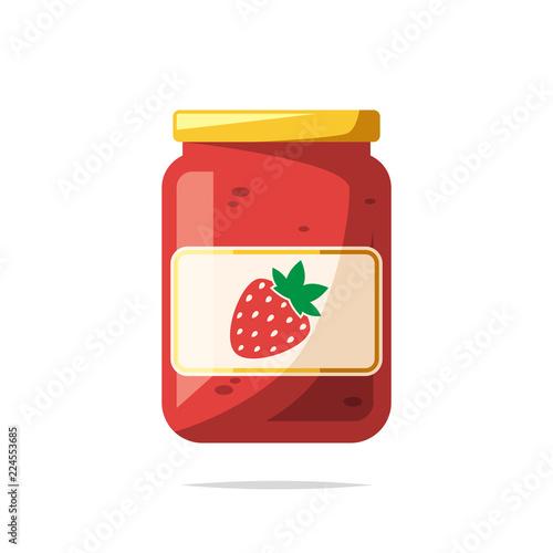 Photo Strawberry jam vector isolated illustration