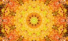 Bright Yellow/Orange Mandala A...