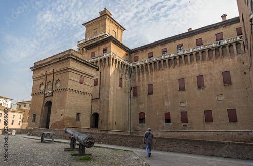 Foto op Aluminium Oude gebouw The Estense castle in Ferrara