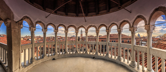"""View of Venice from """"Scala Contarini del Bovolo"""" point of view"""
