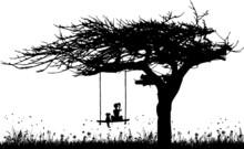 Blumenwiese Mit Baum