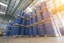 Chemical Tank In Storage Yard