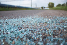 Broken Glass On The Road