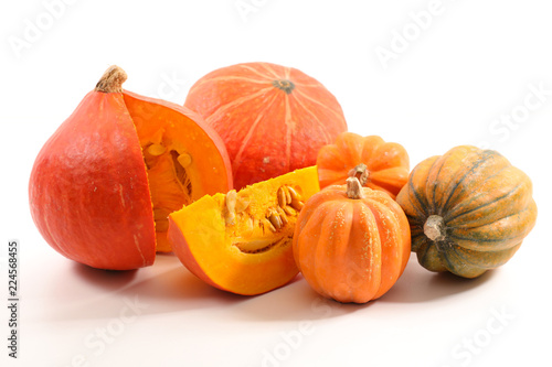 selection of variety pumpkin