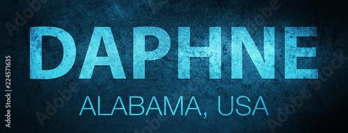 Canvas Print Daphne. Alabama. USA special blue banner background