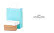 The boxes paper bag package pattern on white background isolation