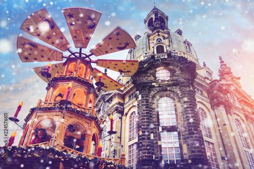 weihnachtsmarkt in dresden Fototapet