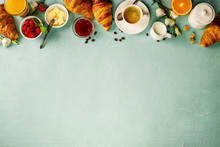 Continental Breakfast Captured From Above