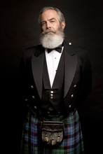 Mature Male Model Wearing Kilt...