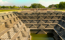 The Ancient Step Well In Hampi India