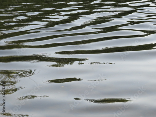 Ondas de Agua de un Rio Canvas Print