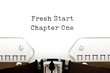 Fresh Start Chapter One Typewriter Concept
