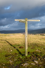 Signpost For Hikers In The Yor...