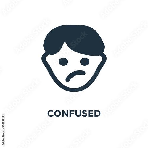 Fotografie, Obraz  confused icon