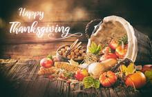 Hand Written Thanksgiving Invitation