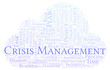 Crisis Management word cloud, made with text only.