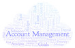 Account Management word cloud, made with text only.