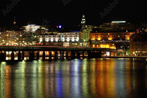Spoed Foto op Canvas Stockholm Bridge in Stockholm. Sweden