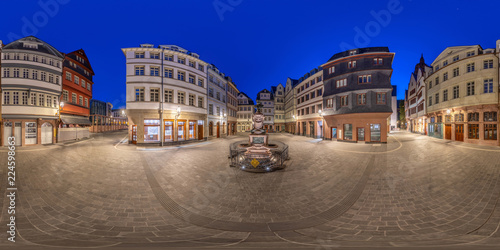 Keuken foto achterwand Oude gebouw Oldtown Frankfurt 360 full spherical Panorama 1