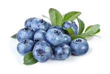 Heap Of Blueberry Fruits Isola...