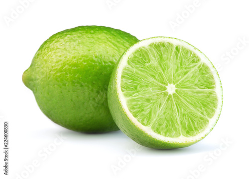 lime fruits isolated on white background Canvas-taulu