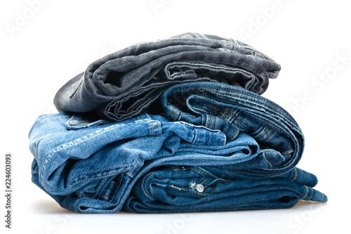 Fotografia  folded denim jeans